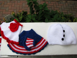 Valentine's outfit, Patriotic dress, and Snowman outfit