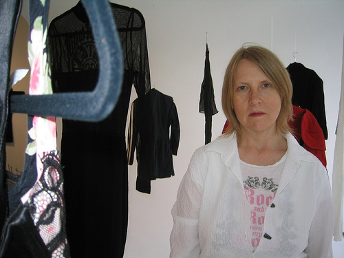"Dodie Bellamy, curator of ""Kathy Forest"" installation"